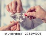 hands of different people... | Shutterstock . vector #275694005