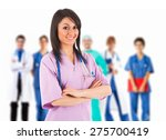 Young Smiling Nurse In Front O...