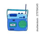 retro recorder icon for audio... | Shutterstock .eps vector #275704145