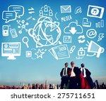 social media social networking... | Shutterstock . vector #275711651