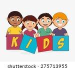 kids design over white... | Shutterstock .eps vector #275713955
