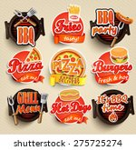 fast food and bbq grill... | Shutterstock .eps vector #275725274
