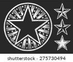vector star shape drawn on the...