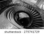 Stairs In Black And White In...