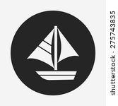 boat icon | Shutterstock .eps vector #275743835