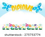 diploma or frame for kids ... | Shutterstock .eps vector #275753774