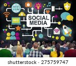 social media social networking... | Shutterstock . vector #275759747