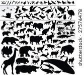 animal silhouettes   Shutterstock .eps vector #27576478