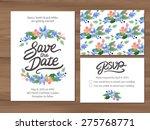 wedding set with watercolor...   Shutterstock .eps vector #275768771