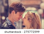 couple enjoying outdoors in a... | Shutterstock . vector #275772599