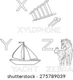 coloring alphabet | Shutterstock .eps vector #275789039