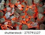 Glowing Hot Charcoal Briquette...