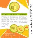 stylish health care flyer... | Shutterstock .eps vector #275791355