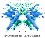 blue green watercolor... | Shutterstock .eps vector #275793065