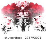 black and red watercolor... | Shutterstock .eps vector #275793071