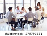 businesswoman presenting to... | Shutterstock . vector #275793881