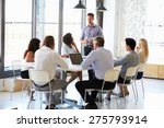 colleagues at an office meeting | Shutterstock . vector #275793914