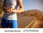 cropped shot of woman checking... | Shutterstock . vector #275793935