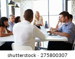 businesswoman presenting to... | Shutterstock . vector #275800307