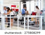 staff working in a busy office... | Shutterstock . vector #275808299