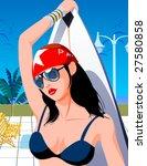 the cover girl. | Shutterstock . vector #27580858