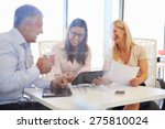 group of colleagues meeting... | Shutterstock . vector #275810024