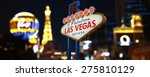 welcome to fabulous las vegas... | Shutterstock . vector #275810129