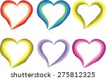 heart shapes | Shutterstock .eps vector #275812325