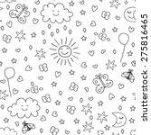 seamless pattern for kids    Shutterstock .eps vector #275816465
