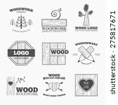 woodworking badges logos and... | Shutterstock .eps vector #275817671
