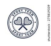 Vintage Style Tennis Label Wit...