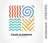Four Elements Simple Line...