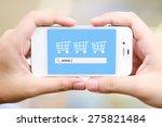 on line shopping on tablet... | Shutterstock . vector #275821484
