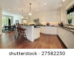 eating area and island in... | Shutterstock . vector #27582250