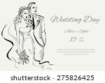 wedding day invitation with... | Shutterstock .eps vector #275826425