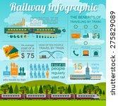 railway infographic. set... | Shutterstock .eps vector #275829089