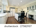 kitchen with island and chairs | Shutterstock . vector #27582937