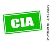Cia White Stamp Text On Green...