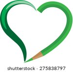 color pencil with heart shape... | Shutterstock .eps vector #275838797