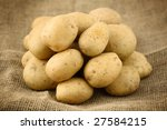 potatoes on sacking | Shutterstock . vector #27584215