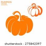 pumpkin. isolated vegetables on ... | Shutterstock .eps vector #275842397