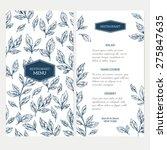 hand drawn herb restaurant menu.... | Shutterstock .eps vector #275847635