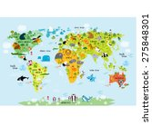vector map of the world with... | Shutterstock .eps vector #275848301