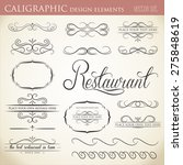 calligraphic design elements to ... | Shutterstock .eps vector #275848619