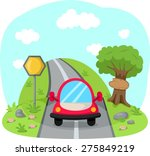 illustration of traveling car... | Shutterstock .eps vector #275849219
