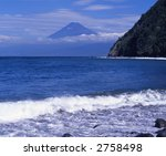 waves breaking on the coast of... | Shutterstock . vector #2758498