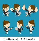 people set for business. office ... | Shutterstock .eps vector #275857619