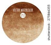 coffee gradient watercolor...   Shutterstock .eps vector #275866355