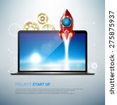 project start up concept.... | Shutterstock .eps vector #275875937