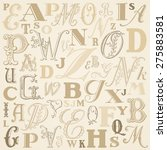 abc vector background   beige... | Shutterstock .eps vector #275883581